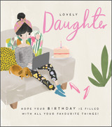Lovely Daughter Greeting Card - Pigment Productions
