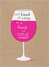 Any friend of Wine by the Cookie Jar - Abacus Cards