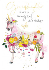 Granddaughter Have a Magical Birthday Card - Abacus Cards