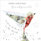 Sending all the love in the world Grandparents Christmas Card - Real & Exciting Designs