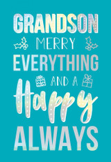 Grandson Merry Everything Christmas Card - Abacus Cards