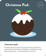 Christmas Pudding Chistmas Card - Mint Publishing
