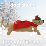 Daschund  Snow Funny Christmas Card - Mint Publishing