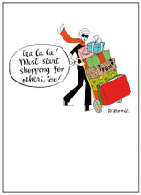 Christmas Shopping Funny Christmas Card - Mint Publishing