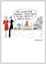 Canapes Funny Christmas Card - Mint Publishing
