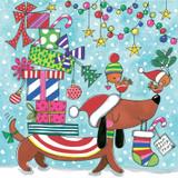 Dog & Presents Jigsaw Christmas Cards for Kids - Rachel Ellen