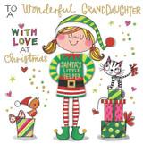 Santas Little Helper Granddaughter Christmas Cards for Kids - Rachel Ellen