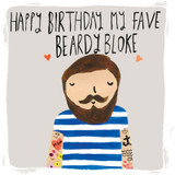 My Fav Beardy Bloke Birthday Card - Sooshichacha