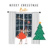 Merry Christmas Bestie Christmas Card - Belly Button Design