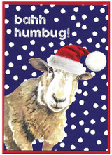 Bahh Humbug Christmas Card - Cinnamon Aitch