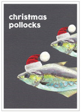 Christmas Pollocks Christmas Card - Cinnamon Aitch