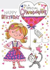 Special Granddaughter Birthday Cards Kids - Rachel Ellen