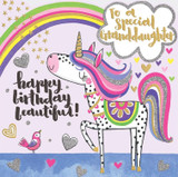 Special Birthday Granddaughter Greeting Card - Rachel Ellen
