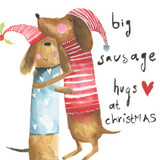 Big Sausage Hugs Christmas Card - Sooshichacha