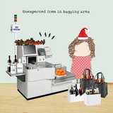 Bagging Area Funny Christmas Card - Rosie Made a Thing