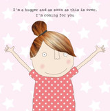 Hugger Greeting Card - Rosie Made a Thing