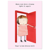 One Door Opens Funny Notebook - Rosie Made a Thing