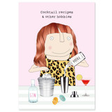 Cocktail Recipes Funny Notebook - Rosie Made a Thing
