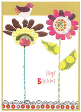 Textured Flowery Greeting Card - Cinnamon Aitch