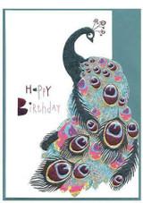 Happy Birthday Peacock | Greeting Card