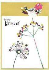 Happy Birthday Birdie Greeting Card - Cinnamon Aitch