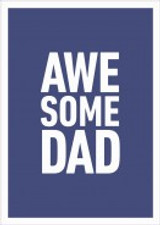 Awesome Dad Greeting Card - Icon Art