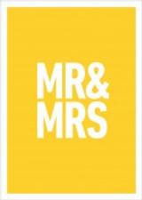 Mr & Mrs Wedding Card - Icon Art