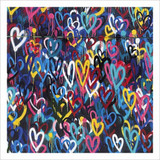 Grafitti Heart Greeting Card - Icon Art