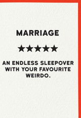 Marriage Greeting Card | Redback Cards