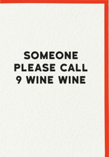 9 Wine Wine Greeting Card | Redback Cards