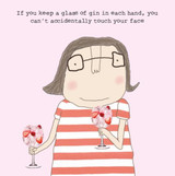 Keep a Glass in Each Hand Funny Greeting Card - Rosie Made a Thing