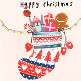 Christmas Stocking Christmas Card - Sooshichacha