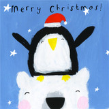 Christmas Penguin Christmas Card - Sooshichacha