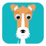 Felix Fox Terrier Childrens Birthday Card - Stripey Cats