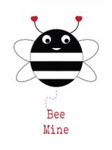 Bee Mine Valentines Card - Stripey Cats
