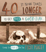 40th It Now Takes Longer Greeting Card | Pigment Productions
