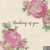 Thinking of You Greeting Card - Blue Eyed Sun