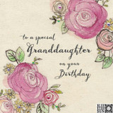 Special Granddaughter Floral Greeting Card - Blue Eyed Sun
