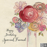 Special Friend Floral Greeting Card - Blue Eyed Sun