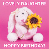 Hoppy Birthday Daughter Greeting Card - Mint Publishing