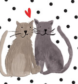 Cats in Love Valentines Anniversary Card - Caroline Gardner