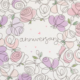 Anniversary Roses Greeting Card   Belly Button Design