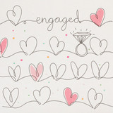 Engagement Hearts Greeting Card | Belly Button Design