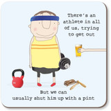 Athlete Funny Coaster - Rosie Made a Thing