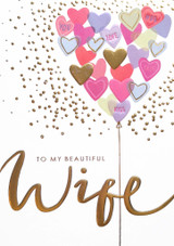 To My Beautiful Wife | Valentines Card - Louise Tiler