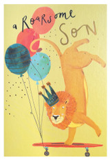 Roarsome Son Greeting Card - Louise Tiler
