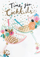 Time for Cocktails Greeting Card - Louise Tiler