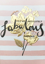 Absolutely Fabulous Greeting Card - Louise Tiler