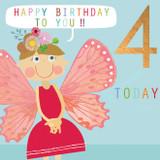 Fairy Aged 4 Kids Greeting Card - Kali Stileman