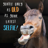 Only as old as Latest Selfie Greeting Card - Abacus